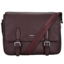 Buy BOSS Martie Messenger Bag, Burgundy Online at johnlewis.com