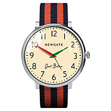 Buy Newgate Unisex Club Stainless Steel Canvas Strap Watch Online at johnlewis.com