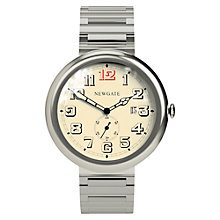 Buy Newgate WWLLBTVS016BVS Unisex Grand Liberty Stainless Steel Bracelet Strap Watch, Silver/Cream Online at johnlewis.com