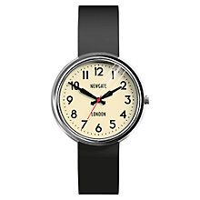 Buy Newgate WWMELCK011SK Electric Pristine Unisex Stainless Steel Silicone Strap Watch, Black Online at johnlewis.com