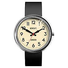 Buy Newgate WWLELCPS011SK Unisex Grand Electric Stainless Steel Silicone Strap Watch, Black/Cream Online at johnlewis.com