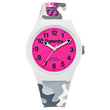 Buy Superdry Unisex Urban Camo Silicone Strap Watch Online at johnlewis.com