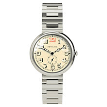 Buy Newgate WWSLBTVS013BVS Unisex Liberty Vintage Stainless Steel Bracelet Strap Watch, Silver/Cream Online at johnlewis.com