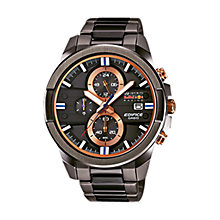 Buy Casio EFR-543RBM-1AER Men's Edifice Red Bull Edition Chronograph Watch, Black/Rose Gold Online at johnlewis.com