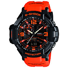Buy Casio GA-1000-4AER G-Shock Men's Watch, Black/Orange Online at johnlewis.com