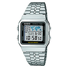Buy Casio A500WEA-1EF Men's Digital Stainless Steel Watch, Silver Online at johnlewis.com