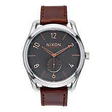Buy Nixon Men's C45 Custom Leather Strap Watch Online at johnlewis.com