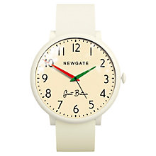Buy Newgate WWLCLBC002SC Unisex Club Stainless Steel Silicone Strap Watch, Cream Online at johnlewis.com