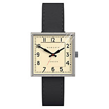 Buy Newgate Unisex Cube Vintage Stainless Steel Leather Strap Watch Online at johnlewis.com