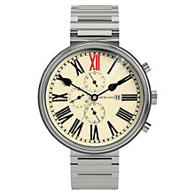 Buy Newgate WWLKNGVS019BVS King Chronograph Unisex Stainless Steel Bracelet Strap Watch, Cream Online at johnlewis.com