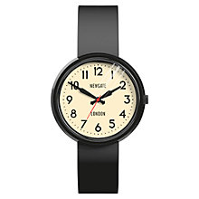 Buy Newgate WWMELCK011SK Unisex Electric Stainless Steel Silicone Strap Watch, Black/Cream Online at johnlewis.com