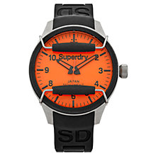 Buy Superdry Men's Scuba Silicone Strap Watch Online at johnlewis.com