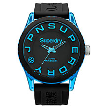 Buy Superdry Men's Tokyo Silicone Strap Watch Online at johnlewis.com