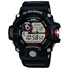 Buy Casio GW-9400-1ER Men's G-Shock Solar Powered Watch, Black Online at johnlewis.com