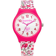Buy Superdry Women's Liberty Urban Silicone Strap Watch Online at johnlewis.com