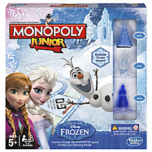 Buy Disney Frozen Monopoly Junior Game Online at johnlewis.com