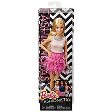 Buy Barbie Fashionistas Feather-Like Doll Online at johnlewis.com