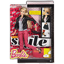 Buy Barbie Style Pink Denim Doll Online at johnlewis.com