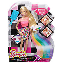 Buy Barbie Rainbow Hair Doll Online at johnlewis.com