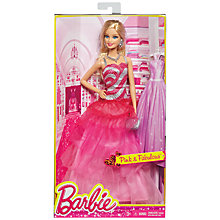 Buy Barbie Signature Style Pink and Fabulous Gown Doll Online at johnlewis.com