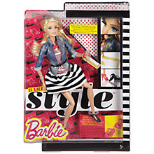 Buy Barbie Style Striped Skirt Doll Online at johnlewis.com