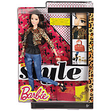Buy Barbie Style Leopard Jacket Doll Online at johnlewis.com