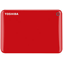Buy Toshiba Canvio Connect II Portable Hard Drive, USB 3.0, 1TB Online at johnlewis.com