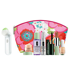 Buy Clinique Sonic System Purifying Cleansing Brush with FREE Clinique Bonus Time Makeup Bag Gift Online at johnlewis.com