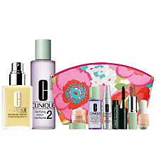 Buy Clinique Clarifying Lotion 2 and Dramatically Different Moisturizing Lotion+ with FREE Clinique Bonus Time Makeup Bag Gift Online at johnlewis.com