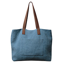 Buy East Hobo Jute Bag, Mid Blue Online at johnlewis.com