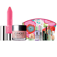 Buy Clinique Chubby Stick Moisturising Lip Colour Balm and Moisture Surge Extended Thirst Relief with FREE Clinique Bonus Time Makeup Bag Gift Online at johnlewis.com