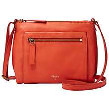 Buy Fossil Vickery Cross Body Leather Bag Online at johnlewis.com