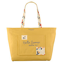 Buy Radley Summerville Canvas Tote Bag, Yellow Online at johnlewis.com