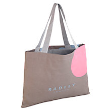 Buy Radley Romney Road Drawstring Tote Bag, Natural Online at johnlewis.com