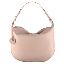 Buy Radley Turnham Green Leather Medium Shoulder Bag, Pale Pink Online at johnlewis.com