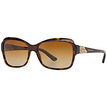 Buy Bvlgari BV8153B Butterfly Framed Polarised Sunglasses, Brown Online at johnlewis.com
