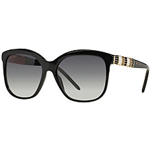 Buy Bvlgari BV8155 Square Sunglasses, Black Online at johnlewis.com