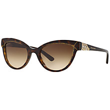 Buy Bvlgari BV8156B Cat's Eye Framed Sunglasses, Brown Online at johnlewis.com