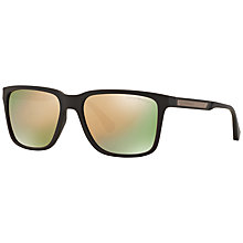Buy Emporio Armani EA4047 Square Sunglasses, Brown Online at johnlewis.com