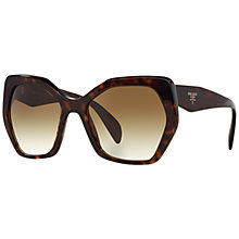 Buy Prada PR16RS Irregular Framed Sunglasses Online at johnlewis.com