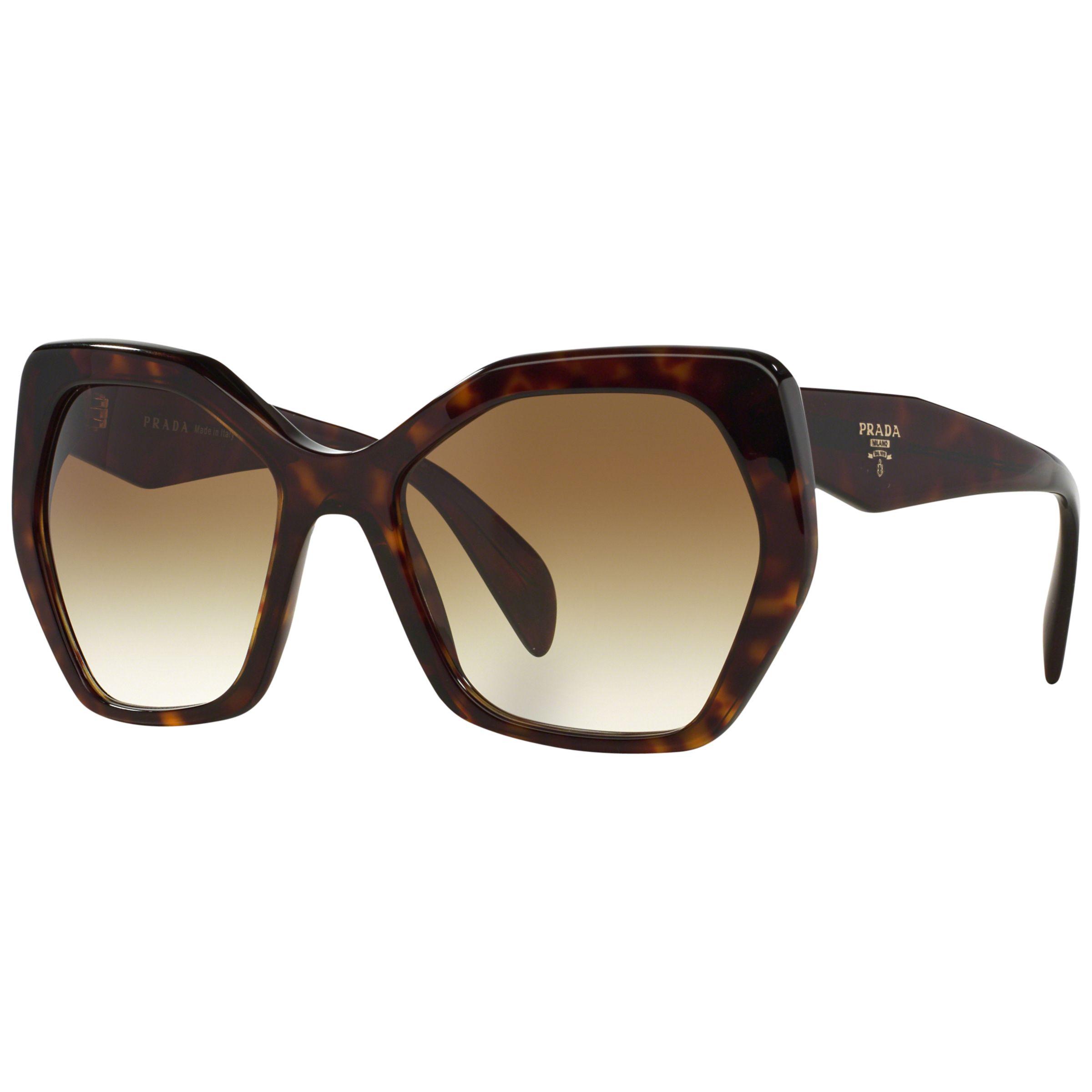 Prada Glasses Frame Malaysia : Buy Prada PR16RS Irregular Framed Sunglasses John Lewis