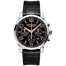 Buy Montblanc Men's Timewalker Chronograph Alligator Strap Watch Online at johnlewis.com