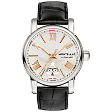 Buy Montblanc 105858 Men's Star Automatic Watch, Black/Silver Online at johnlewis.com