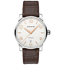Buy Montblanc 110340 Unisex Alligator-Skin Strap Watch, Brown Online at johnlewis.com