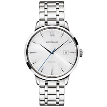 Buy Montblanc 111581 Unisex Heritage Spirit Date Automatic Stainless Steel Bracelet Watch, Silver Online at johnlewis.com