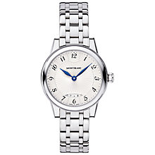 Buy Montblanc 111207 Women's Bohème Date Stainless Steel Bracelet Strap Watch, Silver/White Online at johnlewis.com
