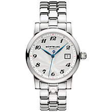 Buy Montblanc 761258 Men's Stainless Steel Bracelet Watch, Silver/White Online at johnlewis.com