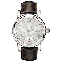 Buy Montblanc 102342 Men's Star 4810 Automatic Leather Strap Watch, Brown/Silver Online at johnlewis.com