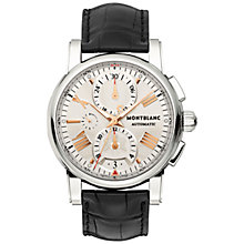 Buy Montblanc 105856 Men's Star 4810 Chronograph Automatic Watch, Black/Silver Online at johnlewis.com
