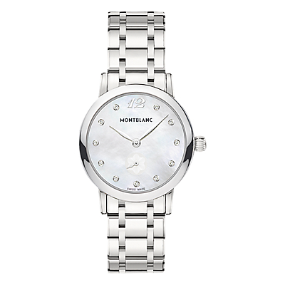 Montblanc 110305 Women's Star Classique Lady Stainless Steel Bracelet Strap Watch, Silver